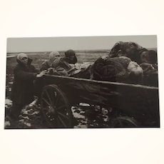 "Important Soviet/Russian WWII Photograph by Dimitri Baltermants Titled ""Carrying Away The Dead"""