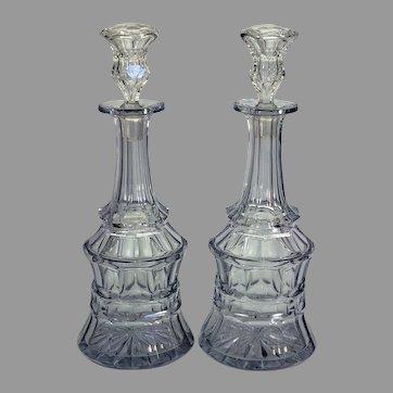 Pair Baccarat cut crystal decanters circa 1850