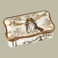Rare snuff box depicting Thomas Aquinas - 18th C.  Italian