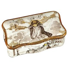 Rare snuff box depicting Thomas Aquinas - 18th C.  Italian