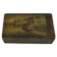 An Antique Swiss/French Papier-Mache Snuff Box c. 1830