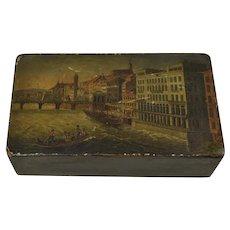An Antique Swiss/French Papier-Mache Snuff Box c. 1830