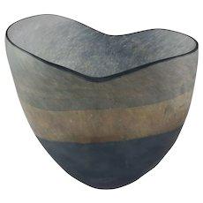 Mid-Century Italian Murano Scavo Art Glass Vase