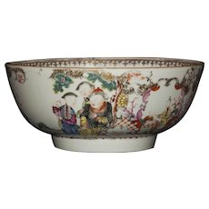 Chinese Export Qing Dynasty Famille Rose Bowl