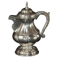 Antique Continental Italian Silver Coffee Pot