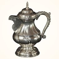 Antique Continental Italian Silver Coffee Pot