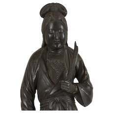 Japanese black painted (Kannon) Guanyin circa 1800