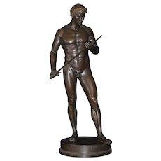 Bronze sculpture of a warrior, by Fritz Heinemann