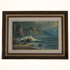 Seascape  oil on canvas by Carson