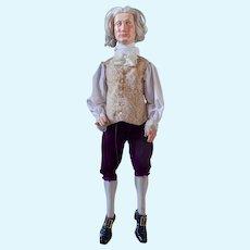 "Large wood-carved George Washington marionette, 42""x18"""