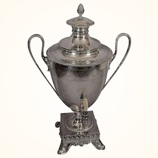 Antique George III Style Silverplated Hot Water Urn c. 1900