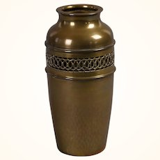 Brass reticulated Arts & Crafts vase