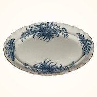 Victorian Blue and White Transferware Platter