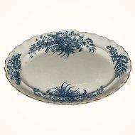 Victorian Blue and White Transferware Platter
