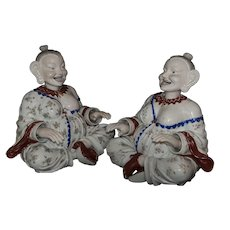 "Two Very Large Chinoiserie German Porcelain pagoda figures, 18.5""x20"""
