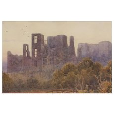 19th c. Watercolor of Kenilworth Castle by Lewis Pinhorn Wood, RA