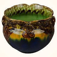 Colorful Antique French or English Majolica Planter c. 1880