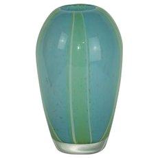 Murano glass vase attributed to Fulvio Bianconi, 1950s