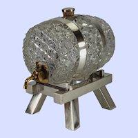 Victorian cut glass spirit barrel decanter- Mappin & Webb
