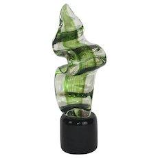 """Salviati Murano glass kelp-form sculpture - 15"""" x 4.5"""" x 4"""""""