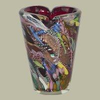 Murano Glass AVem Zanfirico Tutti-Frutti Vase 1950s