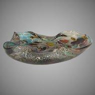 AVeM zanfirico Tutti-frutti millefiori Murano glass bowl