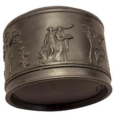 Wedgwood black basalt covered jar or humidor, early 20th century