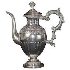 Rare Antique Swedish Rococo Silver Coffee Pot