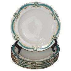 Rare Antique Buen Retiro Plates 1802-1804 - set of six