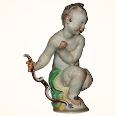 Meissen porcelain figure of Cupid, circa 1905, After the 18th c. Model