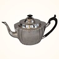 Irish George III Sterling Silver Teapot with Wood Handle, Dublin 1801