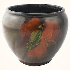 William Moorcroft burgundy floral vase