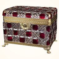 Antique Louis Phillipe Style Jewelry Casket