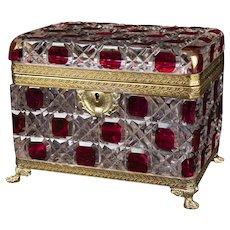 "Antique Louis Phillipe Style Jewelry Casket, 7""x5"""