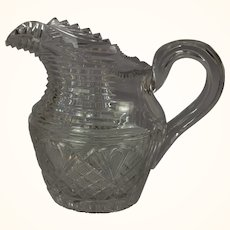Anglo-Irish Regency era cut glass milk pitcher c. 1825
