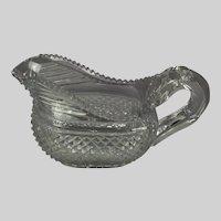 Anglo-Irish Regency cut glass creamer c. 1825