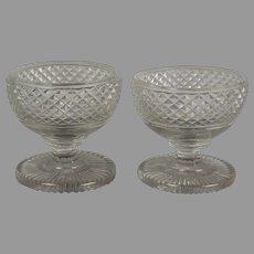 Irish Regency period cut glass salts c. 1825