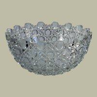 "Lovely American Brilliant Period cut glass bowl, 4 3/8"" H x 9"" W"