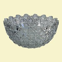 "Lovely American Brilliant Period cut glass bowl, 4 3/8"" H x 9"" W"