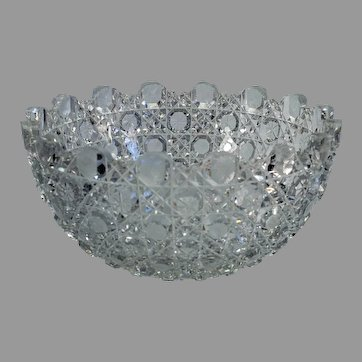 Lovely American Brilliant Period cut glass bowl
