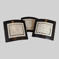 Three Modern Trevisan & Beroncelli glass sconces manufactured by Oggetti Lighting