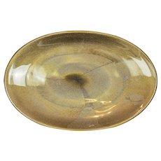 Mid-century Barovier Murano gold fleck platter 1950s