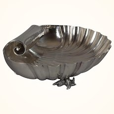Buccelatti sterling silver shell-form center bowl