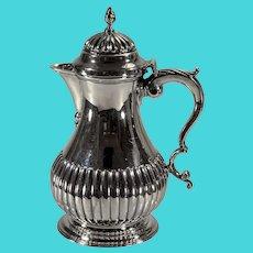 English Regency sterling bachelor coffee pot