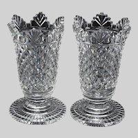 Antique George III c. 1770 Irish Cut Glass Small Coupes Or Sweetmeats