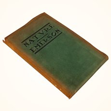 """Nature"" by Ralph Waldo Emerson, published by The Roycrofters"