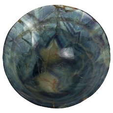 Small Chinese Natural Blue Flourite Offering Bowl