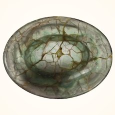 Small Chinese Natural Greenish Veined Flourite Offering Bowl