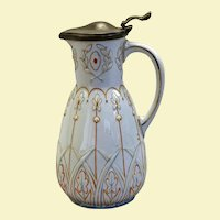 Victorian enameled syrup pitcher c. 1870