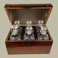 A George III Mahogany Portable Decanter Box c. 1780